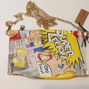Hello 3 am Purse Handbag with shoulder strap.